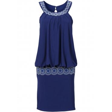 Cocktail-Shirtkleid ohne Ärmel  in blau für Damen von bonprix