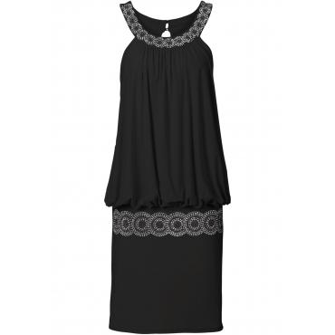 Cocktail-Shirtkleid ohne Ärmel  in schwarz für Damen von bonprix