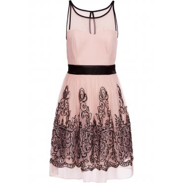 Cocktailkleid ohne Ärmel  in rosa  von bonprix