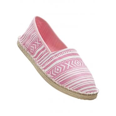Espadrille in pink für Damen von bonprix