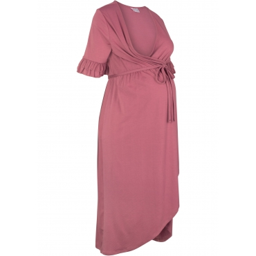 Festliches Stilllkleid / Umstandskleid in Wickeloptik kurzer Arm  in lila von bonprix