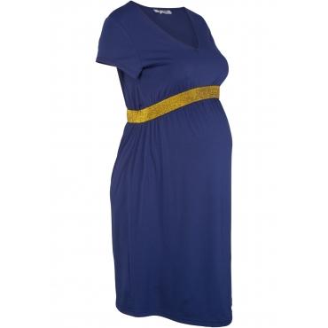 Festliches Umstands-Shirtkleid kurzer Arm  in blau von bonprix