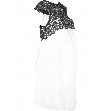 Festliches Umstandskleid kurzer Arm  in weiß für Damen von bonprix