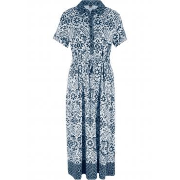 Festliches Umstandsshirtkleid / Stillshirtkleid, Midi-Länge kurzer Arm  in blau von bonprix