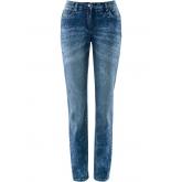 Figurformende Stretch-Jeans im Used-Look in blau für Damen von bonprix