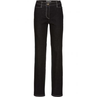 Figurformende Stretchjeans, STRAIGHT in schwarz für Damen von bonprix