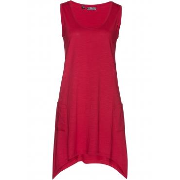 Baumwoll Flammgarn-Jerseykleid ohne Ärmel  in rot für Damen von bonprix