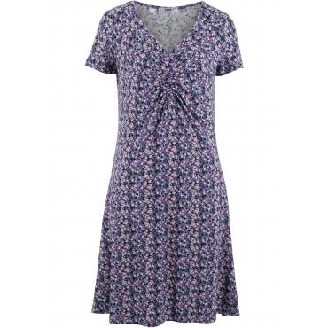 Figurschmeichelndes Kleid, Kurzarm in lila für Damen von bonprix