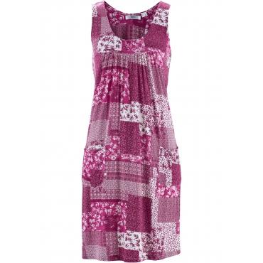 Figurumspielendes Stretch-Kleid ohne Ärmel  in pink für Damen von bonprix