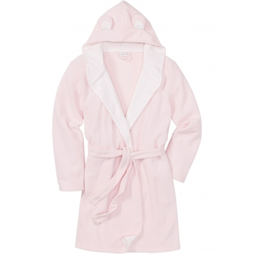 Fleece Bademantel langarm  in rosa für Damen von bonprix