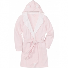 Fleece Bademantel langarm  in rosa für Damen von bonprix