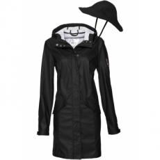 Funktions-Outdoorjacke mit Hut langarm  in schwarz für Damen von bonprix