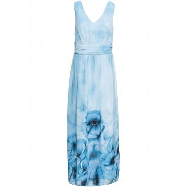 Geblümtes Sommerkleid ohne Ärmel  in blau von bonprix