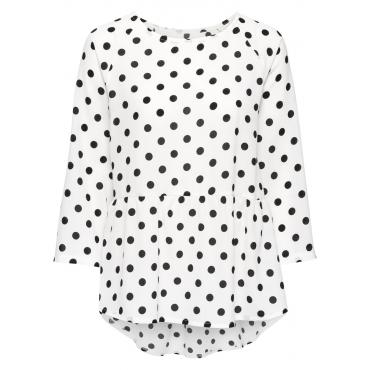 Gepunktete Bluse 3/4 Arm  in weiß von bonprix