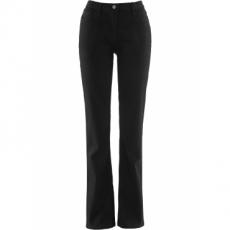 Gerade Stretch-Hose mit bequemer Oberschenkelweite in schwarz für Damen von bonprix