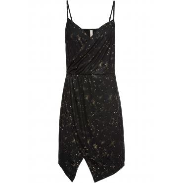 Glitzer Kleid ohne Ärmel  in schwarz von bonprix