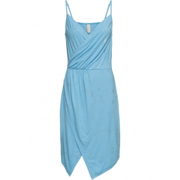 Glitzer Kleid ohne Ärmel  in silber von bonprix