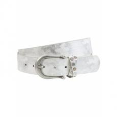 Gürtel mit Metallic Beschichtung in weiß für Damen von bonprix