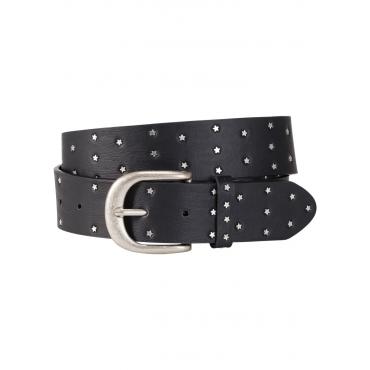 Gürtel mit Stern-Nieten in schwarz für Damen von bonprix