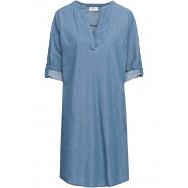 Halbarm-Jeanskleid in blau für Damen von bonprix
