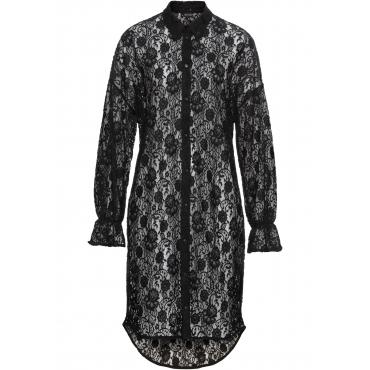 Blusenkleid aus Spitze langarm  in schwarz für Damen von bonprix