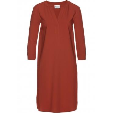 Hemdblusenkleid langarm  in braun für Damen von bonprix