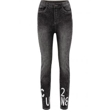 High-Waist-Jeans Super Skinny in schwarz für Damen von bonprix