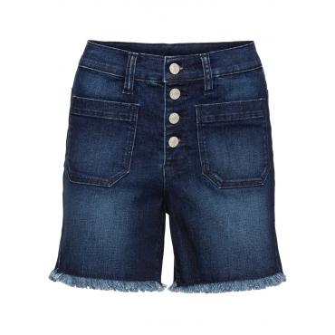 High-Waist-Shorts in blau für Damen von bonprix
