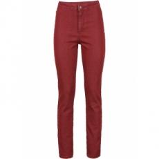 High Waist Skinny Jeans in rot für Damen von bonprix