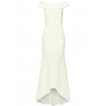 Hochzeitskleid kurzer Arm  in beige von bonprix