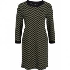 Jacquard-Kleid 3/4 Arm  in grün von bonprix