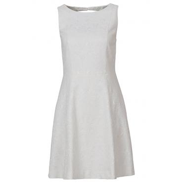 Jacquard-Kleid in weiß von bonprix
