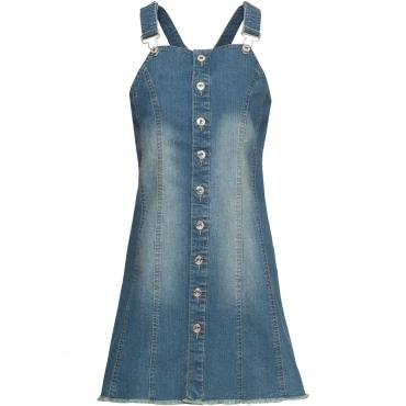 Jeans-Latzkleid ohne Ärmel  in blau für Damen von bonprix