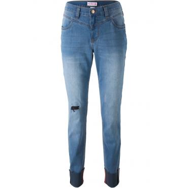 Jeans mit modischem Turn-up – designt von Maite Kelly in blau für Damen von bonprix