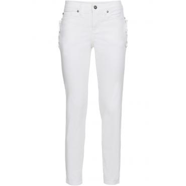 Jeans mit Schnürung in weiß für Damen von bonprix