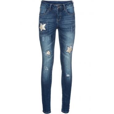 Jeans mit Sternen in blau für Damen von bonprix