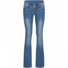 Jeans mit Stickerei in blau für Damen von bonprix