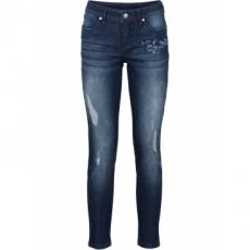 Jeans mit Stickerei in schwarz für Damen von bonprix