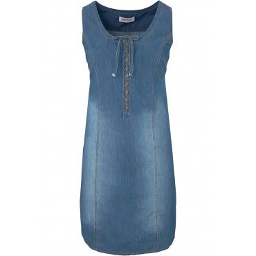 Jeanskleid in A-Form ohne Ärmel  in blau für Damen von bonprix