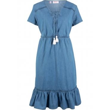 Jeanskleid kurzer Arm  in blau  von bonprix