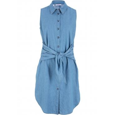 Jeanskleid ohne Ärmel  in blau für Damen von bonprix