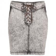 Jeansrock mit Schnürung in grau für Damen von bonprix