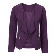Jersey-Blazer langarm  in lila für Damen von bonprix