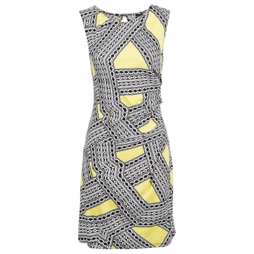 Jersey-Kleid in gelb von bonprix