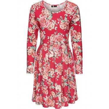 Jerseykleid langarm  in rot für Damen von bonprix