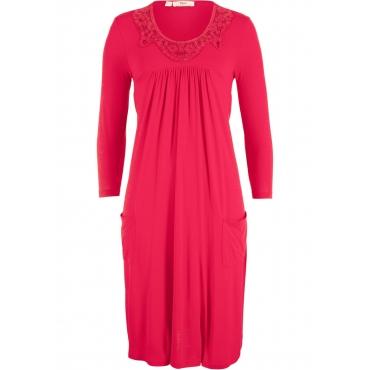 Jerseykleid mit Spitze 3/4 Arm  in rot für Damen von bonprix
