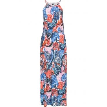 Jersey-Kleid ohne Ärmel  in weiß von bonprix