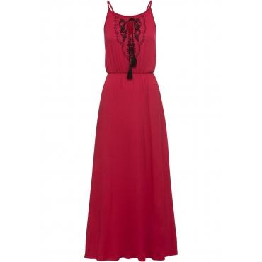 Jersey-Maxikleid ohne Ärmel  in rot für Damen von bonprix
