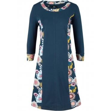 Jerseykleid, 3/4-Arm in blau für Damen von bonprix