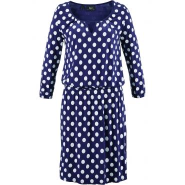 Jerseykleid, 3/4-Arm in blau von bonprix